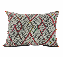Moroccan Kilim Cushion Vintage Authentic Wool Hand Embroidered Hand Stitched 52 cm x 36 cm VC108